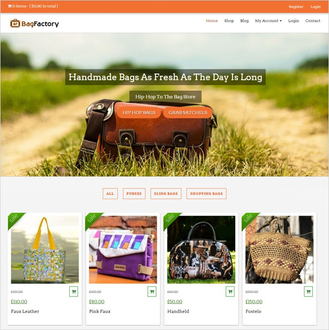Bag Making WordPress Theme