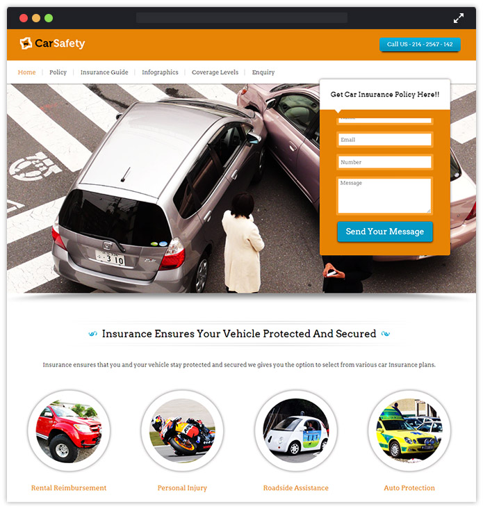 Car Insurance Policy WordPress Theme