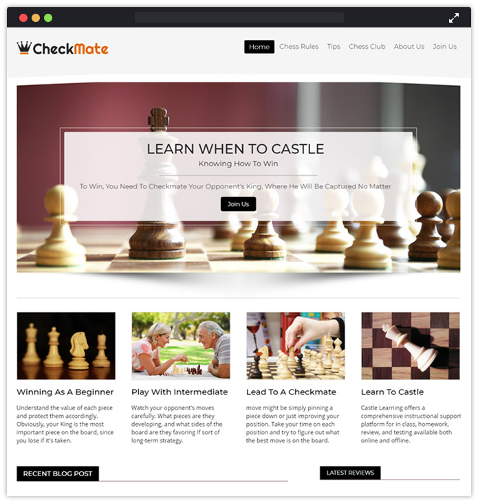 Chess WordPress Theme