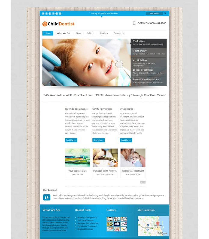 Child Dentist WordPress Theme