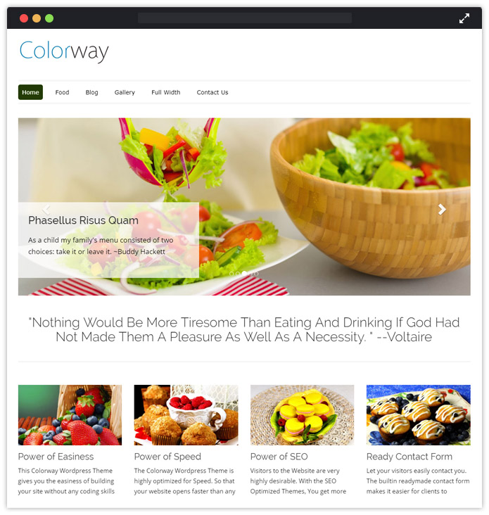 ColorWay WordPress theme