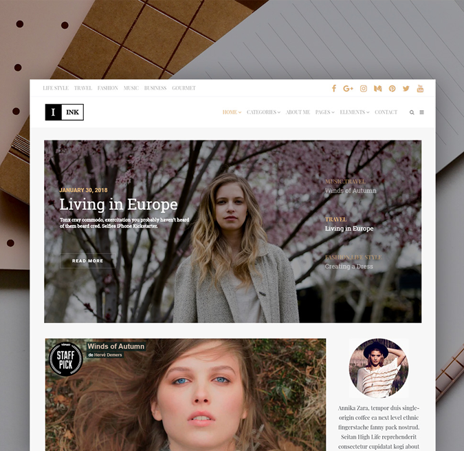 Blog WordPress Theme