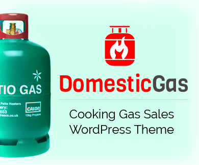 Domestic Gas - Cooking Gas Cylinder Sales WordPress Theme
