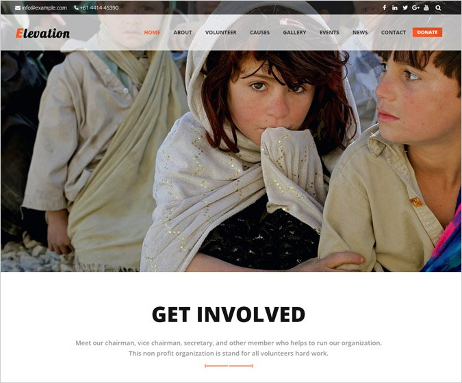 Elevation - Charity WordPress Theme