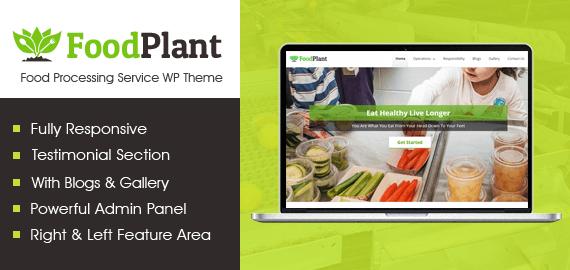 Food Processing Service WordPress Theme
