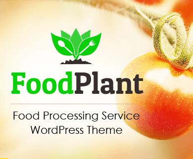 FoodPlant - Food Processing Service WordPress Theme