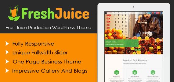 FruitJuice Production WordPress Theme