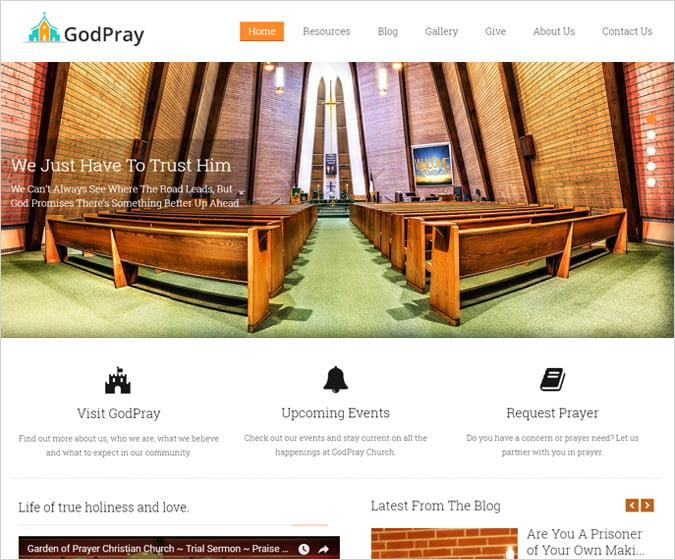 GodPray WordPress Theme