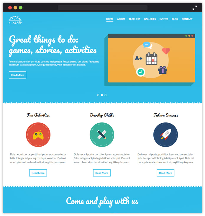 HTML WordPress theme