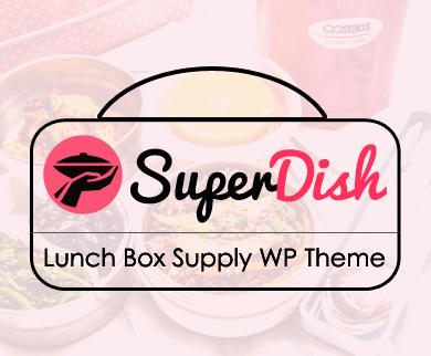 SuperDish - Lunch Box Food Supply WordPress Theme