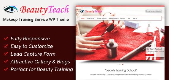Makeup Training Service WordPress Theme