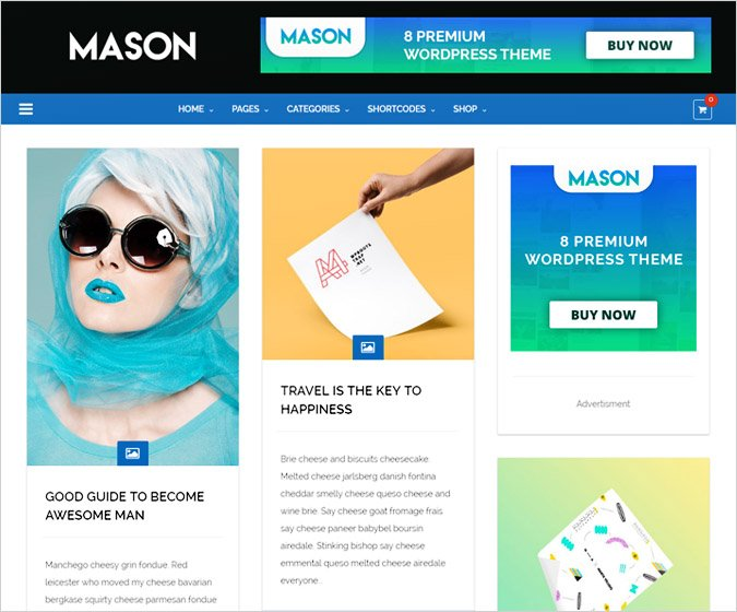 Mason - Ultra Responsive Multipurpose Woocommerce Wordpress Theme