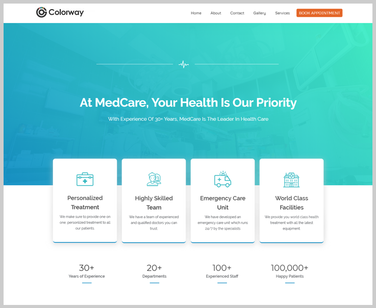 Colorway - Healthcare WordPress Theme