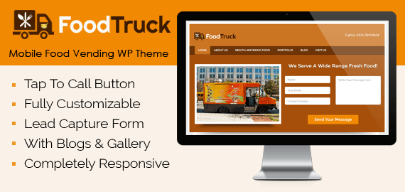 Mobile Food Vending WordPress Theme