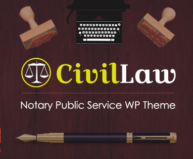 CivilLaw - Notary Public Services WordPress Theme