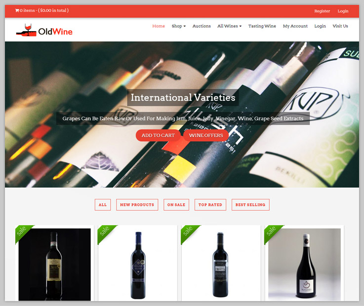 Old Wine WordPress Theme