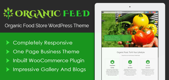 Organic Food Store WordPress Theme