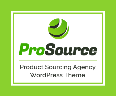 ProSource - Product Sourcing Agency & Company WordPress Theme
