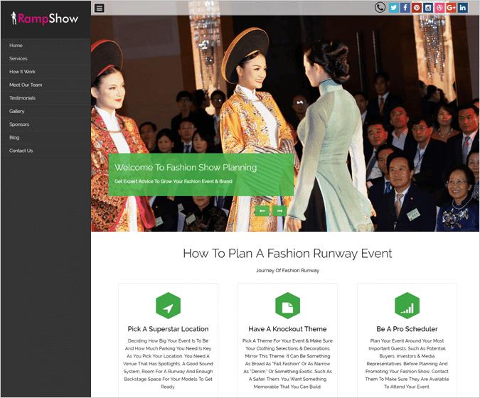 RampShow WordPress Theme