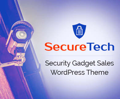 SecureTech - Security & Spyware Gadget Sales WordPress Theme