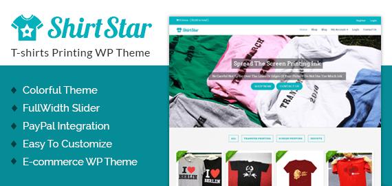 Tshirts Printing Top Sketching WordPress Theme InkThemes - T shirt design website template