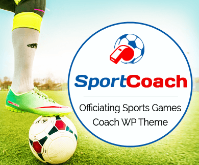 SportCoach - Officiating Sports Games Coach WordPress Theme