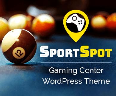 SportSpot - Gaming Center & Arcade Zone WordPress Theme