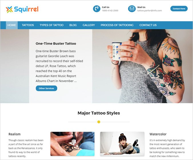 Squirrel-WordPress-Theme