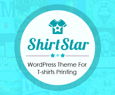 ShirtStar - T-shirts Printing WordPress Theme