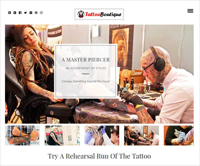 TattooBoutique WordPress Theme