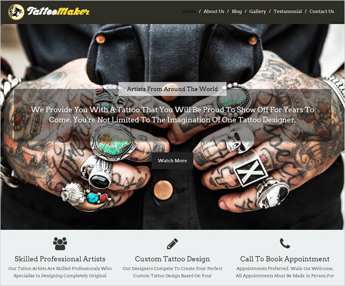TattooMaker WordPress Theme
