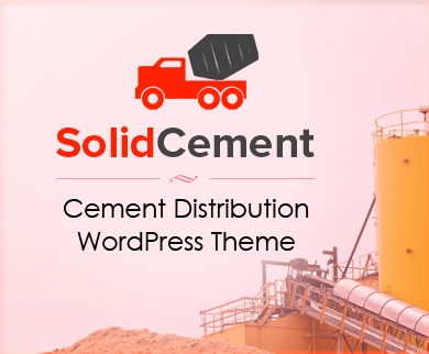 SolidCement - Cement Distribution WordPress Theme