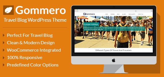 GOMMERO - TRAVEL BUSINESS WORDPRESS THEME