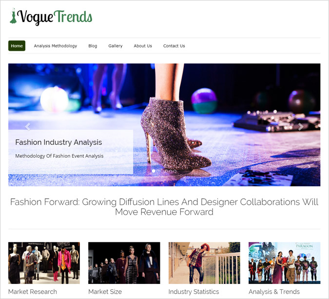 Vogue Trends WordPress Theme