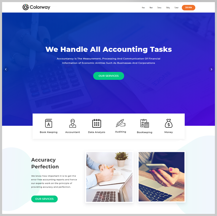 Colorway - Accounting WordPress Theme
