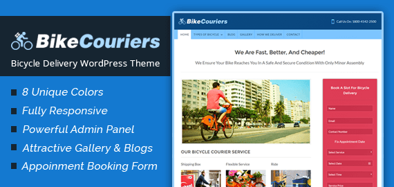 Bicycle Delivery WordPress Theme