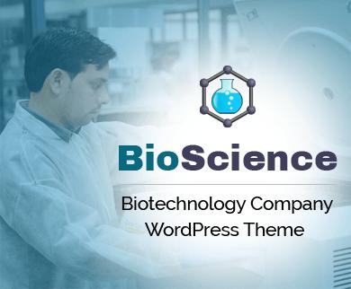 BioScience - Biotechnology Company WordPress Theme