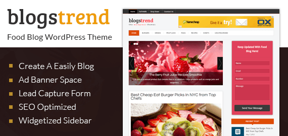 BLOGSTREND - WORDPRESS BLOG THEME