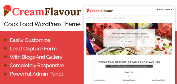 Ice Cream Production WordPress Theme