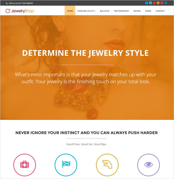 onepage theme-JEWELRY