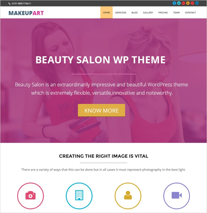 onepage theme-SALON