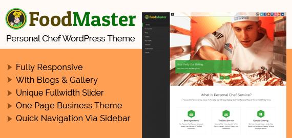 Personal Chef WordPress Theme