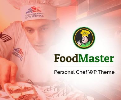 FoodMaster - Personal Chef WordPress Theme