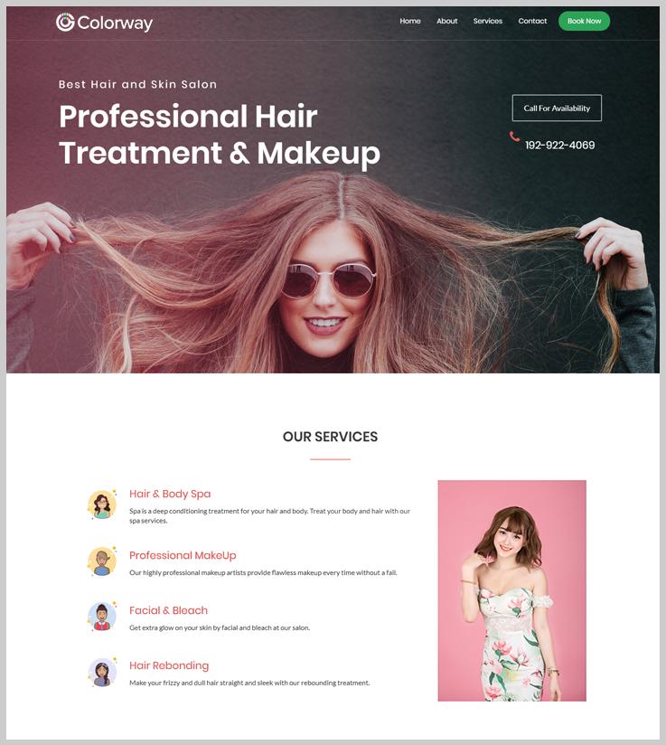 Colorway - Salon Booking WordPress Theme