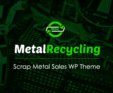 MetalRecycling - Scrap Metal Sales WordPress Theme