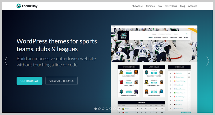 ThemeBoy - Best Free Sports WordPress Themes