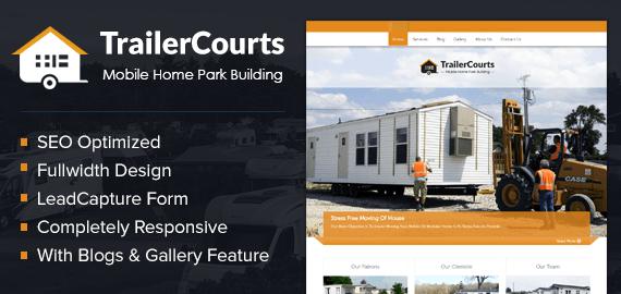 Mobile Home Park Building WordPress Theme