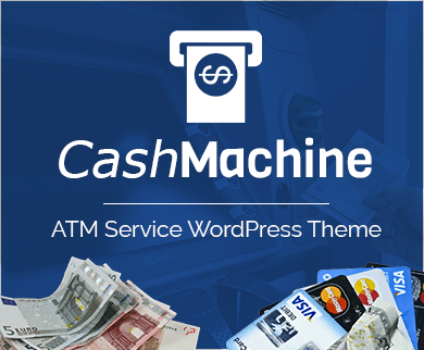 CashMachine - ATM Service WordPress Theme