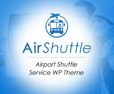 AirShuttle - Airport Shuttle Service WordPress Theme