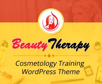 BeautyTherapy - Cosmetology Training WordPress Theme